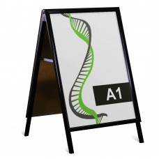 Rental Black A1 snap frame A-board