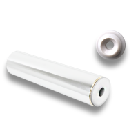 Brass Rod Rail, End Piece white