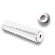 Brass Rod Rail, End Piece white