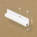 Cornice rail White 2m 25kg/m