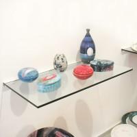 Frosted 30cm x 90cm Glass Shelf With Bracket