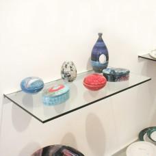 Frosted 15cm x 30cm Glass Shelf With Bracket