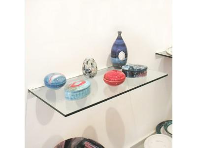 Frosted 30cm x 100cm Glass Shelf With Bracket