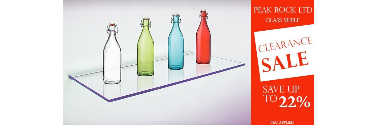 Glass shelf offers