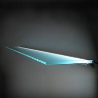 """Floating"" 8mm Glass Light Shelf  With Bracket"