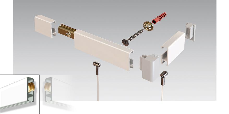 clip rail extra heavy duty system